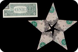 оригами из денег звезда 26