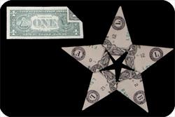оригами из денег звезда 27