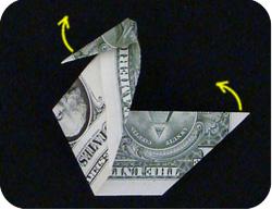 оригами из денег утка 10