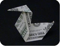 оригами из денег утка 12