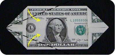 оригами из денег утка 3