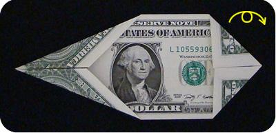 оригами из денег утка 4