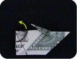 оригами из денег утка 9