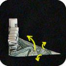 павлин из денег оригами 12