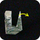 павлин из денег оригами 13