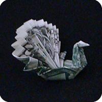 павлин из денег оригами 18