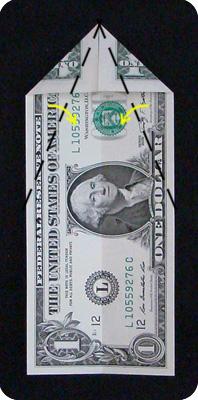 павлин из денег оригами 2