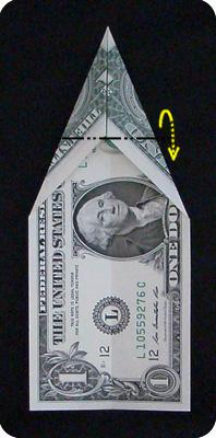 павлин из денег оригами 3