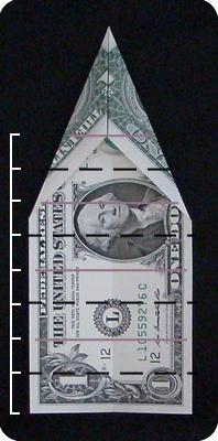 павлин из денег оригами 5