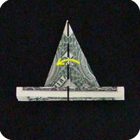 павлин из денег оригами 8