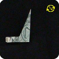 павлин из денег оригами 9