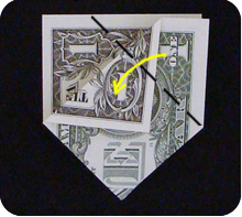 парусник из денег оригами 12