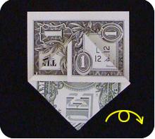 парусник из денег оригами 13