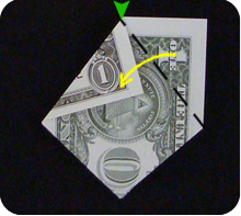 парусник из денег оригами 15
