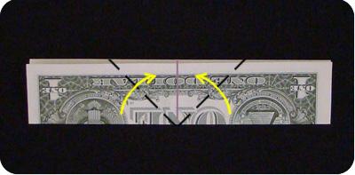 парусник из денег оригами 3