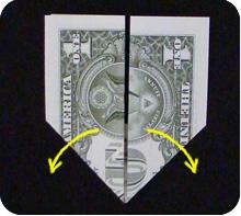 парусник из денег оригами 4