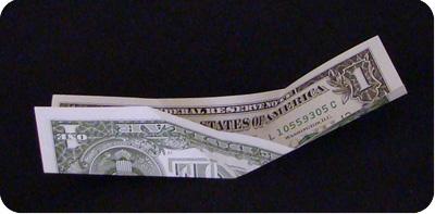 парусник из денег оригами 7