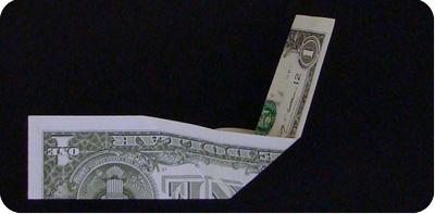 парусник из денег оригами 8