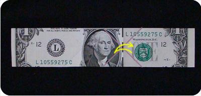 перстень из денег оригами 11