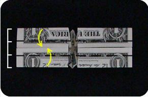 перстень из денег оригами 20