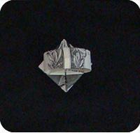 перстень из денег оригами 23