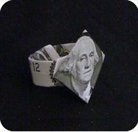 перстень из денег оригами 25