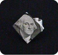 перстень из денег оригами 26