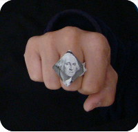 перстень из денег оригами 27