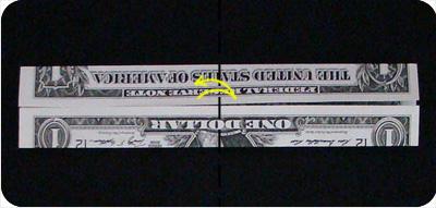 перстень из денег оригами 3