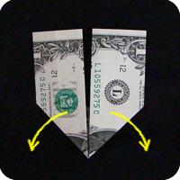 перстень из денег оригами 5