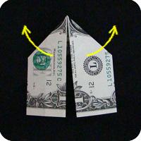 перстень из денег оригами 7
