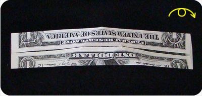 перстень из денег оригами 8