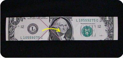 перстень из денег оригами 9