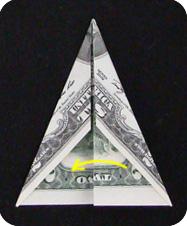 Пирамидка оригами модель из купюры своими руками