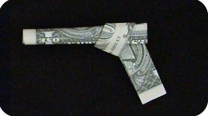 пистолет из денег 16