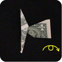 сапоги оригми из денег 11