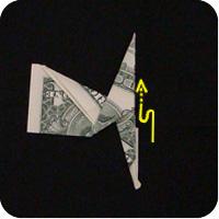 сапоги оригми из денег 12