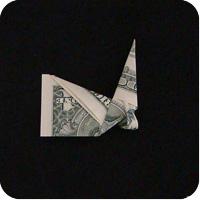 сапоги оригми из денег 13