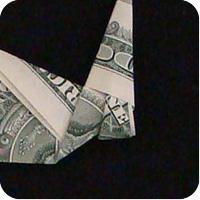 сапоги оригми из денег 16