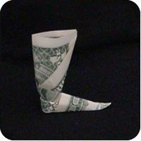 сапоги оригми из денег 17