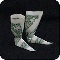 сапоги оригми из денег 18
