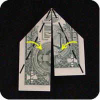сапоги оригми из денег 5