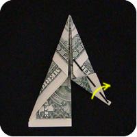 сапоги оригми из денег 7