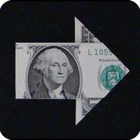 стрелка из денег 17