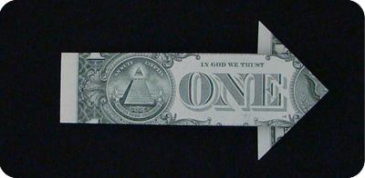 стрелка из денег 9