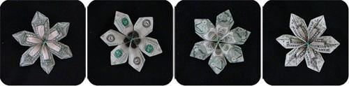 цветок из денег 1