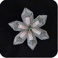 цветок из денег 12