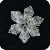 цветок из денег 13