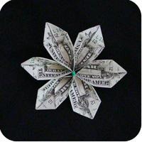 цветок из денег 14
