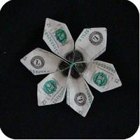 цветок из денег 15